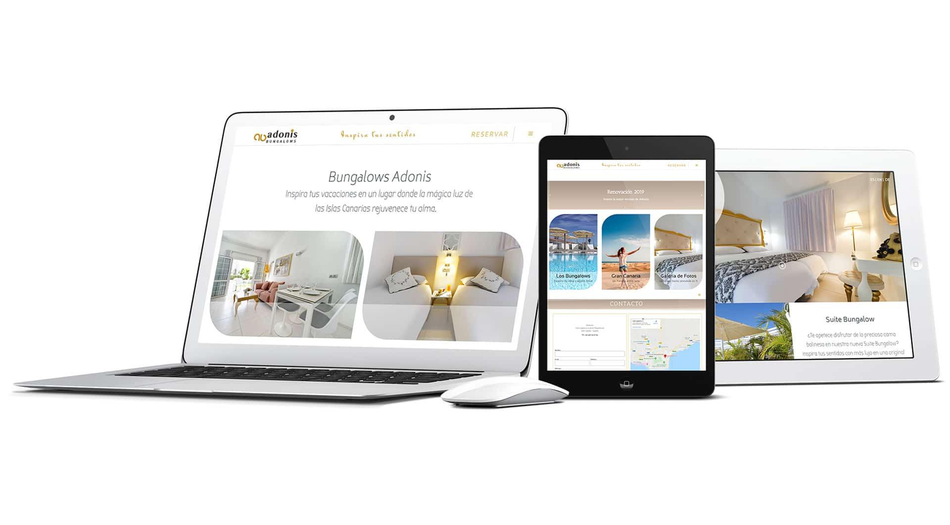 Diseño web bungalows Adonis